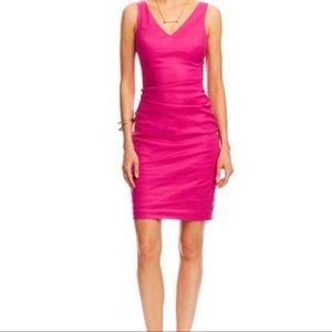 Artelier Nicole Miller kenna linen tucked dress